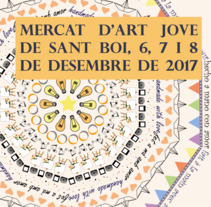 "Cartel finalista del ""Concurs de Cartells del Mercat d'Art Jove 2017"" de Sant Boi. A Graphic Design, and Vector illustration project by Laura Ortiz         - 05.10.2017"