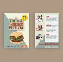 Gráfica publicitaria - Vintage Burger Festival. A Advertising, and Graphic Design project by Mark Zednan - 09-10-2017