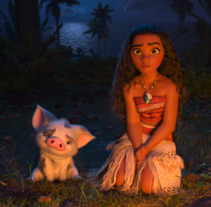 Moana - Pua. A 3D, Animation, Character Design, Rigging, and Character animation project by Iker J. de los Mozos - 14-10-2017