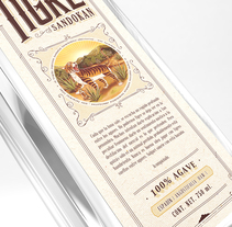 Mezcal Tigre Sandokan. A Br, ing, Identit, and Packaging project by Diego  Gutiérrez - 18-10-2017