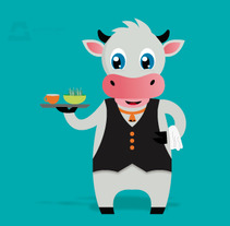 Personaje Vache . A Design, Animation, and Character animation project by Alberto Campa         - 08.10.2015
