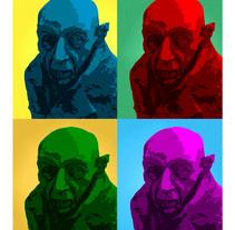 Nosferatu pop art. A Design, Photograph, Graphic Design, Collage, and Film project by Alvaro Redondo Sanchez         - 29.10.2017