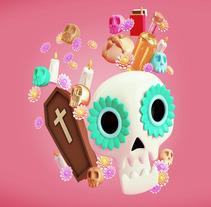 Día de Muertos. Un proyecto de 3D, Dirección de arte, Diseño de personajes y Diseño gráfico de Guillermo Tejeda - 02-11-2017