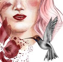 Retrato ilustrado en acuarela. A Illustration, and Painting project by Begoña Seoane  - 17-11-2017