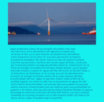Parque Eólico Flotante. A Education project by bybraisxx          - 24.11.2017