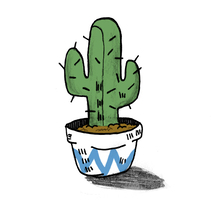 Cactus. A Design, Illustration, Fine Art, and Comic project by Andrea Gracia Fuentes         - 24.11.2017