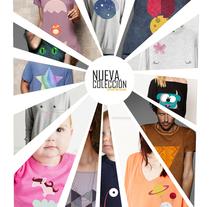 """Diseño de camisetas para la nueva colección de Otoño de """"La Mar de Cosas"""".. Un proyecto de Diseño de Eva Lí         - 28.11.2017"""