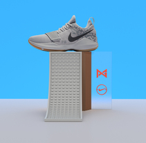 Nike NBA stands. A Design, 3D, Art Direction, Graphic Design, Product Design, and Set Design project by Alejandro Olmedo         - 01.12.2017