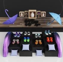 vitrina I+D. Un proyecto de 3D, Arquitectura interior y Diseño de calzado de Eva Segen - 01-12-2017
