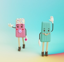 Gelato. A 3D, Character Design, To, and Design project by Eva Segen         - 01.07.2017