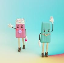 Gelato. Un proyecto de 3D, Diseño de personajes y Diseño de juguetes de Eva Segen         - 01.07.2017