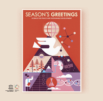 UNESCO Felicitación navidad 2018. A Illustration, Art Direction, and Graphic Design project by Del Hambre         - 19.12.2017