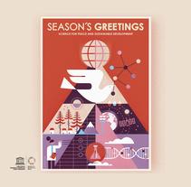 UNESCO Felicitación navidad 2018. Um projeto de Ilustração, Direção de arte e Design gráfico de Del Hambre         - 19.12.2017