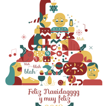 Feliz navidaggg. A Illustration, Art Direction, Graphic Design, and Vector illustration project by Jaime  Hayde         - 20.12.2017