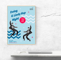 Cartel Lindy Hop 13 ENE. A Editorial Design, and Graphic Design project by Haizea Dobaran Montes         - 07.01.2018