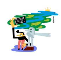 Mercat - Ajuntament d'Amposta . Un proyecto de Ilustración, Dirección de arte, Diseño de personajes, Pintura e Ilustración vectorial de Hernán en H   - 09-01-2018