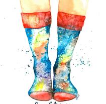 Mis propios universos. Técnicas modernas de Acuarela. A Illustration project by María Isolina García - 09-01-2018