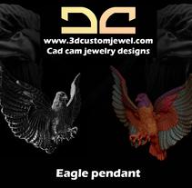 Silver eagle pendant. Um projeto de Design de joias de Diego  Aramburu - 18-01-2018