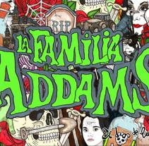 Merchandising oficial de La Familia Adams una comedia musical . A Illustration, Art Direction, and Product Design project by Javier Navarro Romero         - 19.01.2018