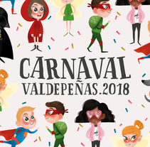 Cartel Carnaval Valdepeñas - Presentado a Concurso. A Illustration, Character Design, Fine Art, and Comic project by lorena sanchez roman         - 22.01.2018