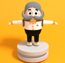 Mi Proyecto del curso: Diseño de personajes en Cinema 4D: del boceto a la impresión 3D. A Character Design project by Sebastian Rondon         - 24.01.2018