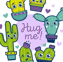 Group Hug Me!. A Illustration, Graphic Design, and Character animation project by Laura García Mañas         - 26.11.2017