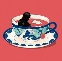 """""""Porcelain"""" Proceso de creación ©Hugo Giner 2017.. A Design, Illustration, Fine Art, Graphic Design, and Vector illustration project by Hugo Giner  - 30-01-2018"""