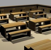 Working area for airports. Un proyecto de 3D y Diseño de interiores de Sara Caride Carrera         - 09.02.2017