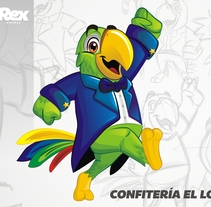 Diseño de mascota para ''Confitería el loro''. Un proyecto de Diseño de personajes de Joseph Sanchez         - 13.01.2016