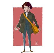 Eleven. Stranger Things.. Um projeto de Ilustração, Design de personagens e Ilustración vectorial de Inma MC         - 15.02.2018