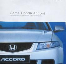 Maquetació díptic Honda Accord. A Graphic Design project by edithmainar         - 18.02.2018