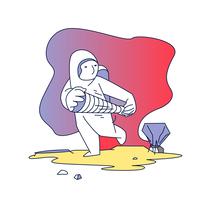 astronauta. Un proyecto de Ilustración e Ilustración vectorial de Alejandro González Osés         - 19.02.2018