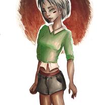 Ilustración chica morena.. Un proyecto de Ilustración y Diseño de personajes de Judith Engelhardt Moya         - 27.02.2018