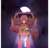 ROBOT. A Illustration project by Jose A. Pérez         - 02.03.2018