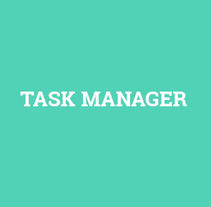 Task Manager. A Web Design project by Víctor Couce Veiga         - 07.03.2018