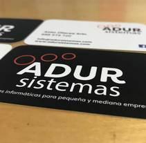 IMAGEN CORPORATIVA - ADUR SISTEMAS. A Graphic Design project by ALUNARTE diseño y comunicación         - 01.12.2017
