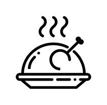 Alimentación - Set de iconos Lipo. A Icon design project by Chulvi         - 14.03.2018