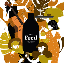 Cartel Café Fred . A Design, Illustration, Advertising, and Vector illustration project by Marta Jiménez         - 16.03.2018