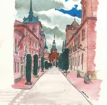 Alcalá de Henares sketchbook #6. Um projeto de Ilustração de Chema G. Baena Art         - 10.04.2018