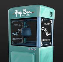 'Palomitas' - PopCorn machine. Um projeto de 3D de Fran Valle         - 13.12.2017